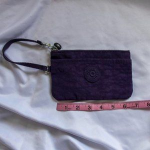 Kipling Dark Purple Wristlet